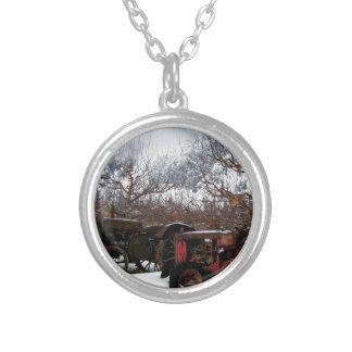 Keremeos Orchard in Winter Silver Plated Necklace