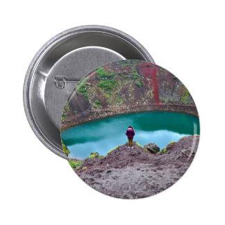 Kerid Crater, Iceland 6 Cm Round Badge