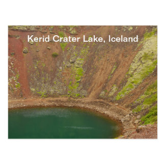Kerid Crater Iceland Postcard