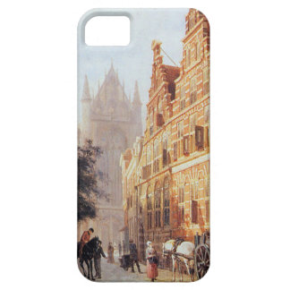 Kerkegracht en Weeshuis in Leiden by Cornelis Barely There iPhone 5 Case
