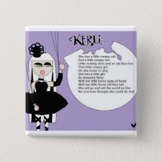 kerli 15 cm square badge
