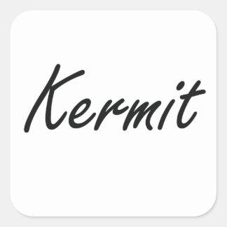 Kermit Artistic Name Design Square Sticker