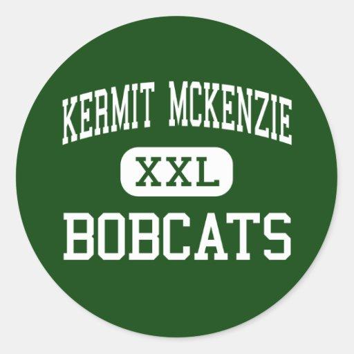 Kermit McKenzie - Bobcats - Junior - Guadalupe Round Sticker