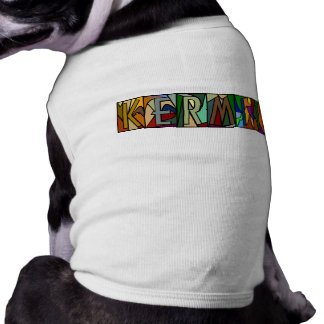 KERMIT ~ PERSONALIZED LGLETTER ~ PET-WARE FOR DOGS SLEEVELESS DOG SHIRT