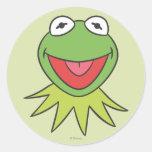 Kermit the Frog Cartoon Head Round Sticker