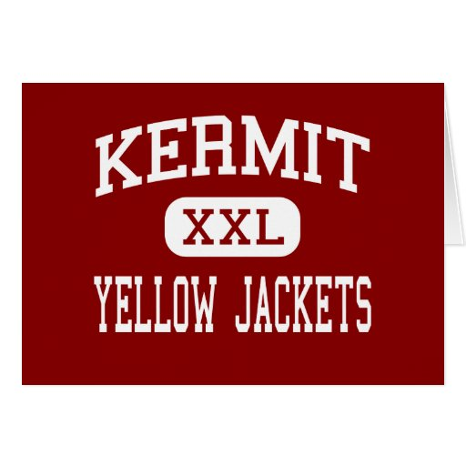 Kermit - Yellow Jackets - High - Kermit Texas Greeting Card