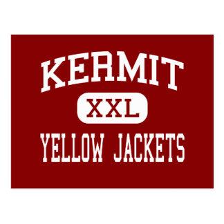 Kermit - Yellow Jackets - High - Kermit Texas Postcard