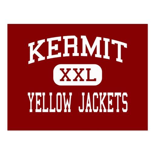 Kermit - Yellow Jackets - High - Kermit Texas Postcards