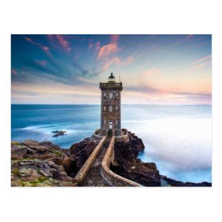 Kermorvan Lighthouse in France Postcard