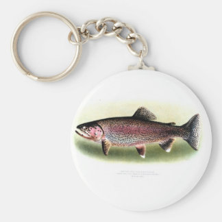 Kern River Trout Basic Round Button Key Ring