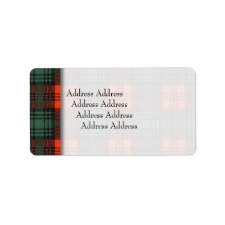 Kerr clan Plaid Scottish tartan Label