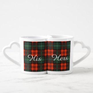 Kerr clan Plaid Scottish tartan Couples Mug