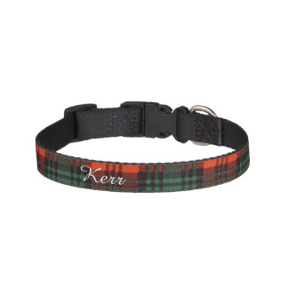 Kerr clan Plaid Scottish tartan Pet Collar