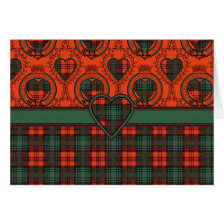 Kerr Scottish Tartan Card