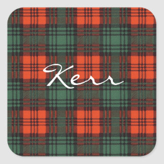 Kerr Scottish Tartan Square Sticker