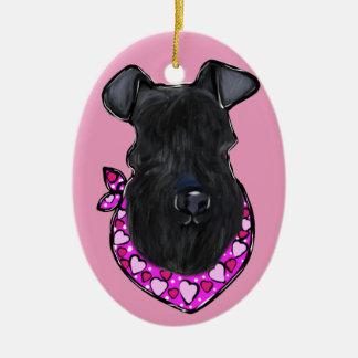 Kerry Blue Terrier Ceramic Ornament