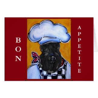 Kerry Blue Terrier Chef Card