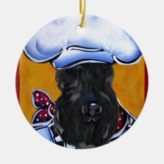 Kerry Blue Terrier Chef Ceramic Ornament