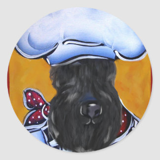Kerry Blue Terrier Chef Classic Round Sticker