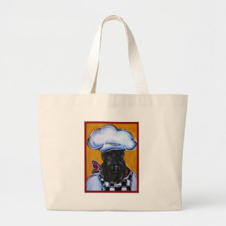 Kerry Blue Terrier Chef Large Tote Bag