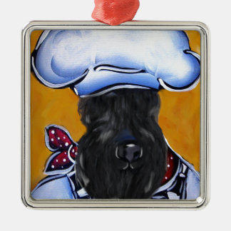 Kerry Blue Terrier Chef Metal Ornament