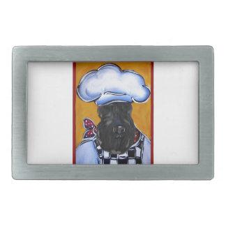 Kerry Blue Terrier Chef Rectangular Belt Buckle