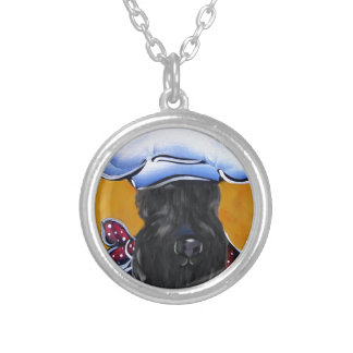 Kerry Blue Terrier Chef Silver Plated Necklace