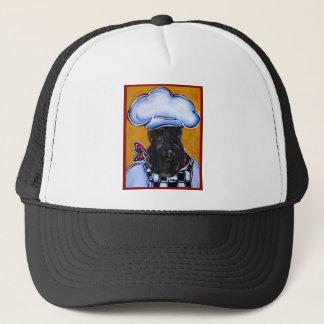 Kerry Blue Terrier Chef Trucker Hat