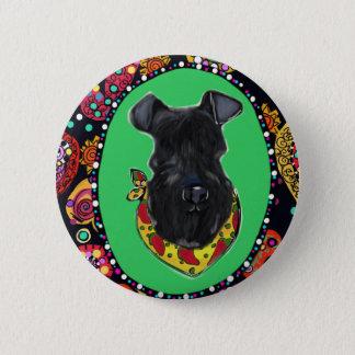 Kerry Blue Terrier Cinco de Mayo 6 Cm Round Badge