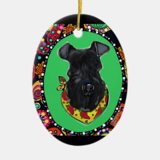 Kerry Blue Terrier Cinco de Mayo Ceramic Ornament