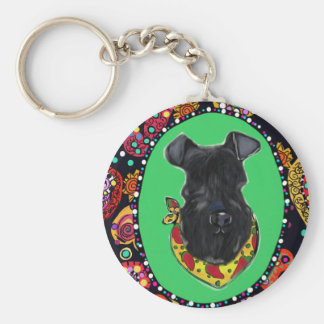 Kerry Blue Terrier Cinco de Mayo Key Ring