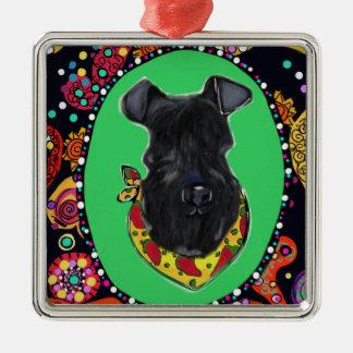 Kerry Blue Terrier Cinco de Mayo Metal Ornament