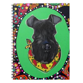 Kerry Blue Terrier Cinco de Mayo Spiral Notebook