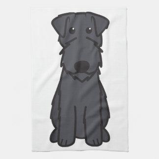 Kerry Blue Terrier Dog Cartoon Tea Towel