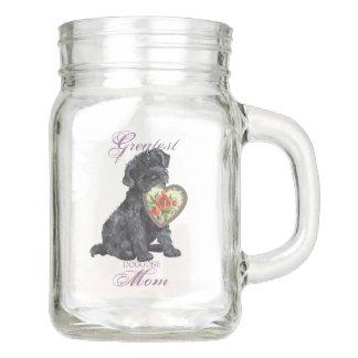 Kerry Blue Terrier Heart Mom Mason Jar