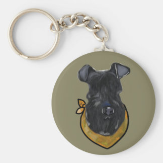 Kerry Blue Terrier Key Ring