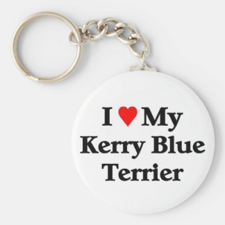 Kerry Blue Terrier Key Ring