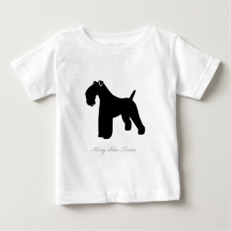 Kerry Blue Terrier silhouette Baby T-Shirt