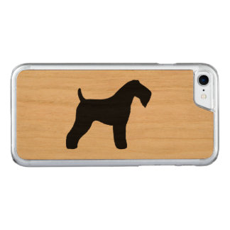 Kerry Blue Terrier Silhouette Carved iPhone 7 Case