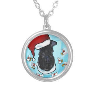 Kerry Blue Terrier Silver Plated Necklace