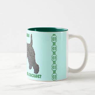 KERRY BLUE TERRIER Two-Tone COFFEE MUG