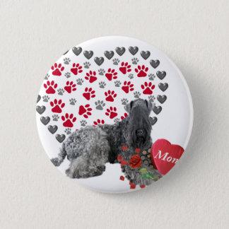 Kerry Blue Valentine For Mom 6 Cm Round Badge