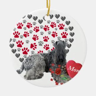 Kerry Blue Valentine For Mom Ceramic Ornament