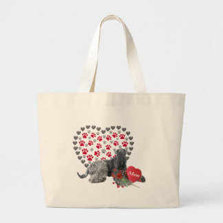 Kerry Blue Valentine For Mom Large Tote Bag