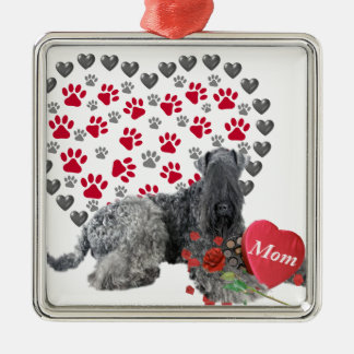 Kerry Blue Valentine For Mom Metal Ornament