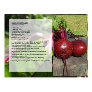 Kerstin's Beet Borscht Recipe Postcard