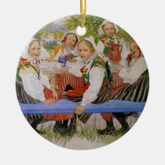 Kersti's Birthday 1909 Round Ceramic Decoration