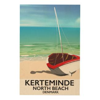 Kerteminde North Beach Denmark Travel poster Wood Print