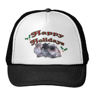 KESS Happy Holiday Bunnies Cap