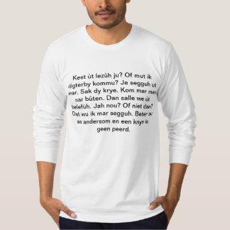 Kest ùt lezûh ju? Dialect shirt for dialectici.